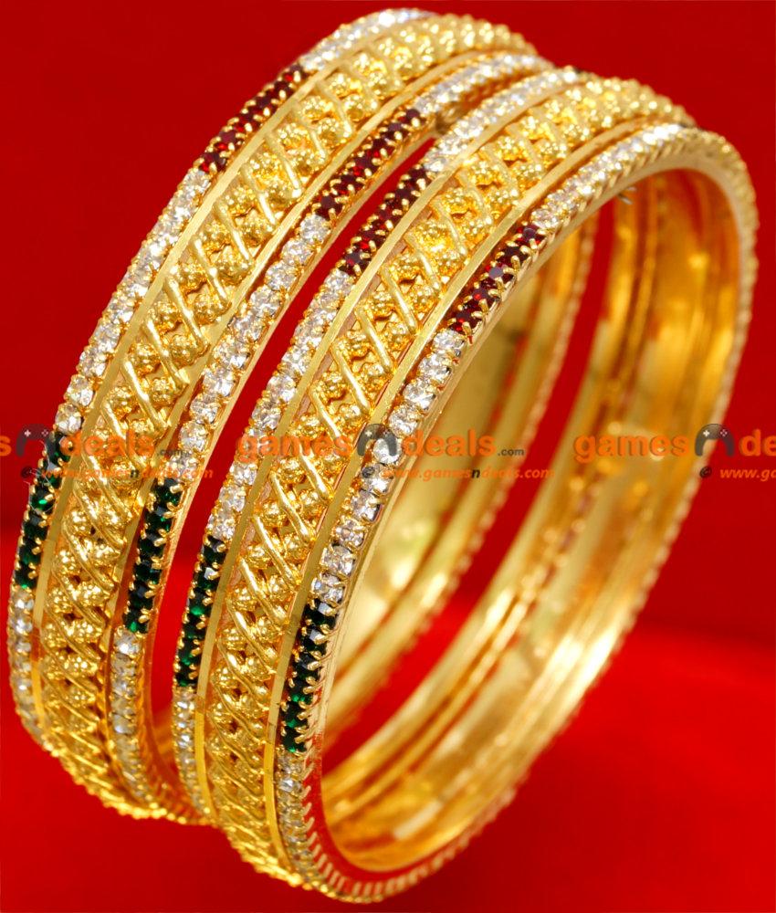 BS023-2.6 Size Gold Plated Semi Precious Ruby Emerald American ...