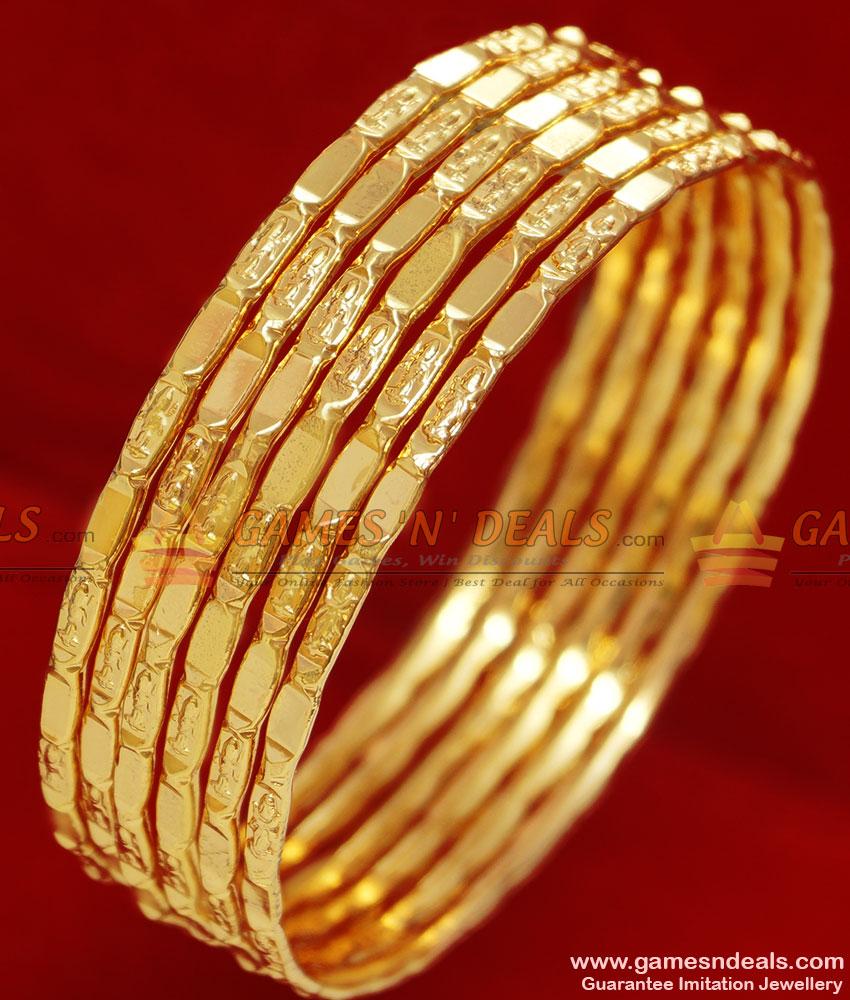 Br083 2 8 Size Gold Plated Lakshmi Goddess Design