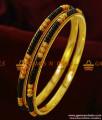 BR148-2.8 Size Gold Plated Traditional Karugamani Black Beads Bangles