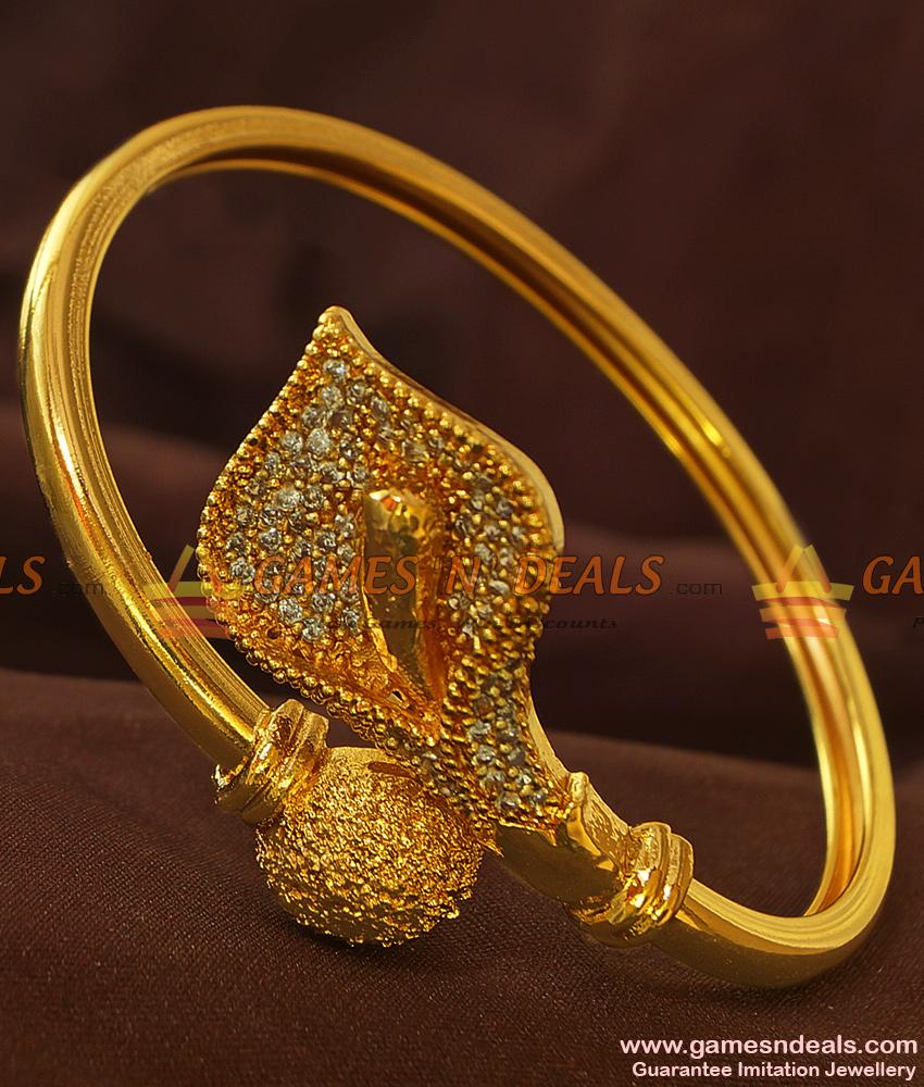 BR152-2.4 Free Size Open Type Zircon Bracelet Teen Design Party Wear Jewelry