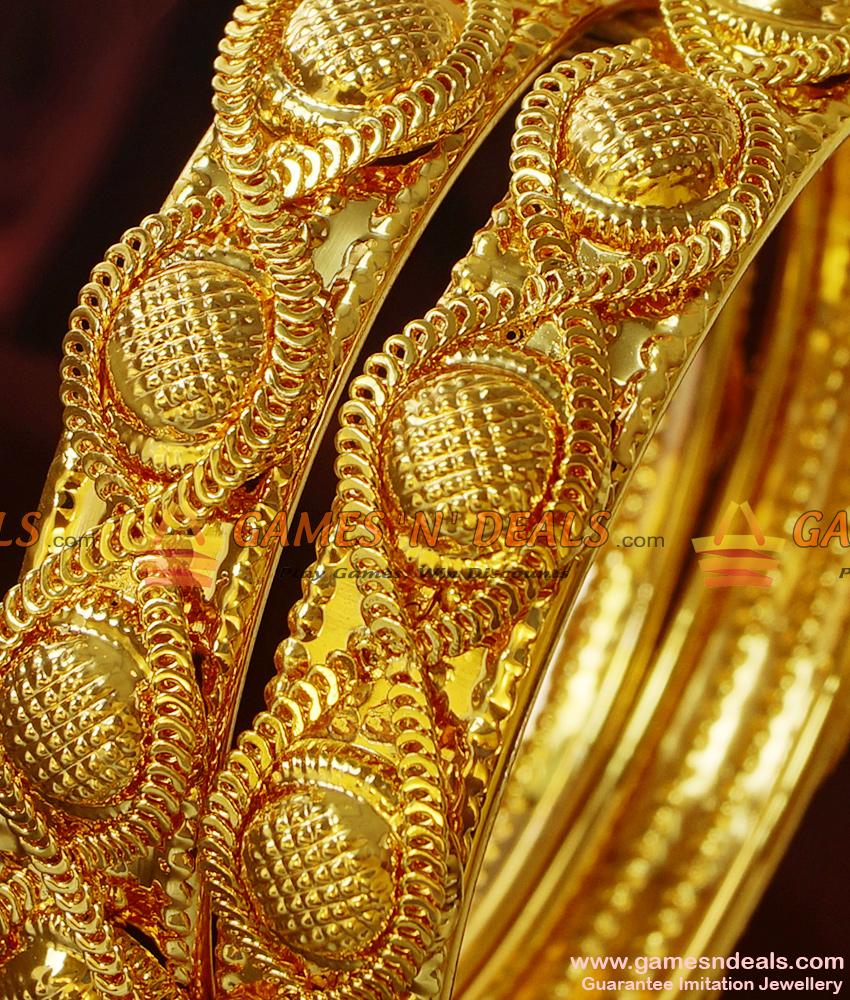BR179-2.8 Size Broad Antique Design Heavy Bangles Handmade Imitation Jewelry