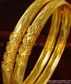 BR181-2.6 Size Shiny Plain Gold Design Guarantee Imitation Bangles online