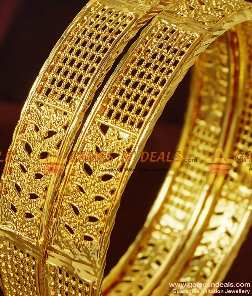 BR208-2.6 Size Broad Peacock Design Medium Kadaa Guarantee Imitation Bangles