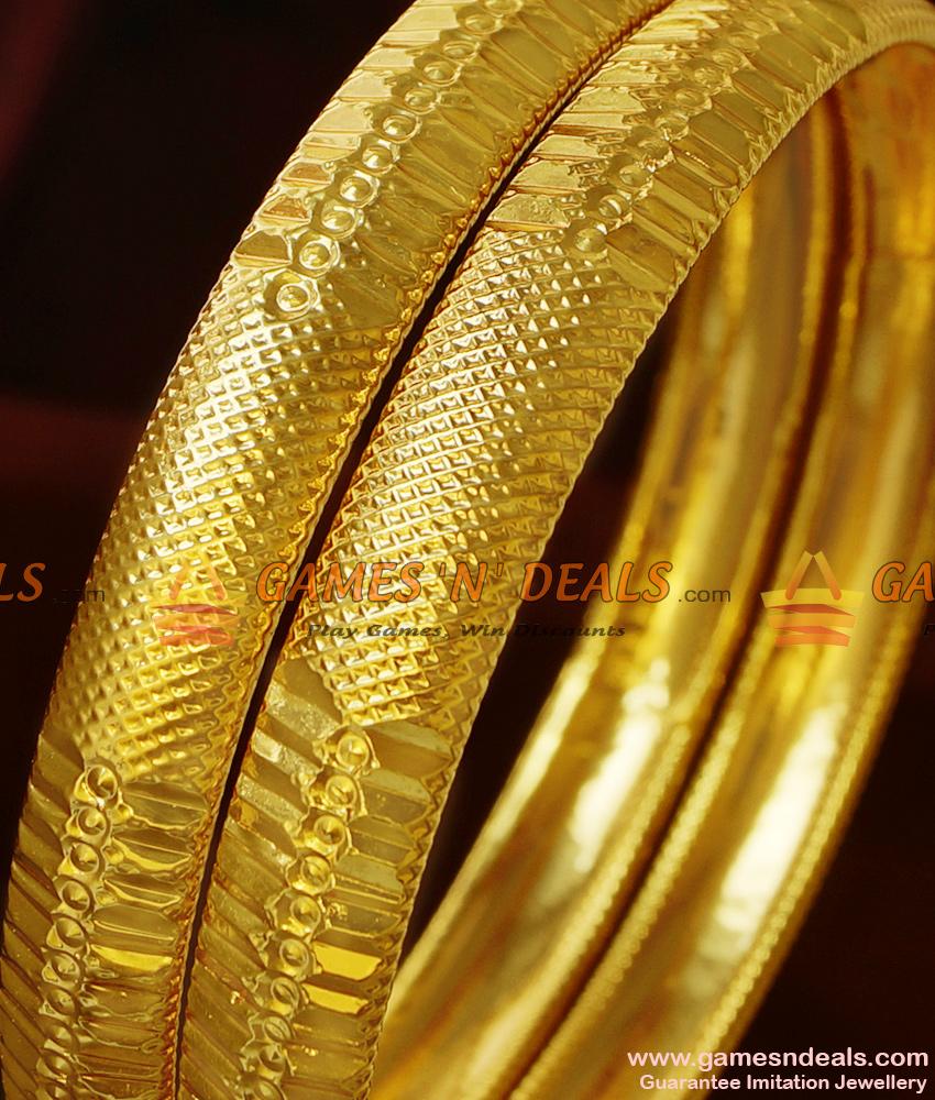 BR210-2.6 Size Matt Finish Attractive Real Gold Like Guarantee Imitation Bangles