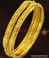BR256-2.6 Size Curvy Design Thin Gold Design Bangles Set for Women