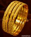 NGBR011-2.4 Size Circle Pattern 4 pieces Non Guarantee Gold Like Design Bangles