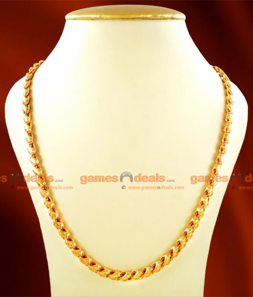 CHRT16 - Gold Plated Jewelry Sundari S Cut Design Chain