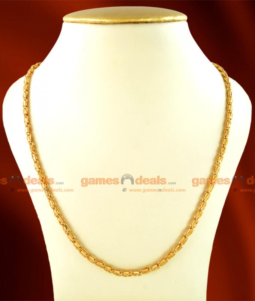 CKMN13 - Gold Plated Jewelry Interlock Spring Design Chain