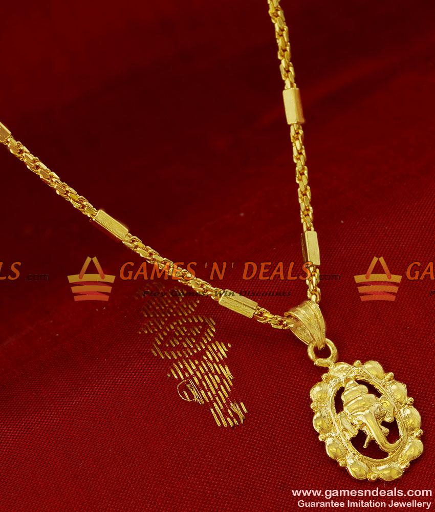 Smdr58 gold plated vinayakar in leaf pendant trendy beaded short chain aloadofball Image collections