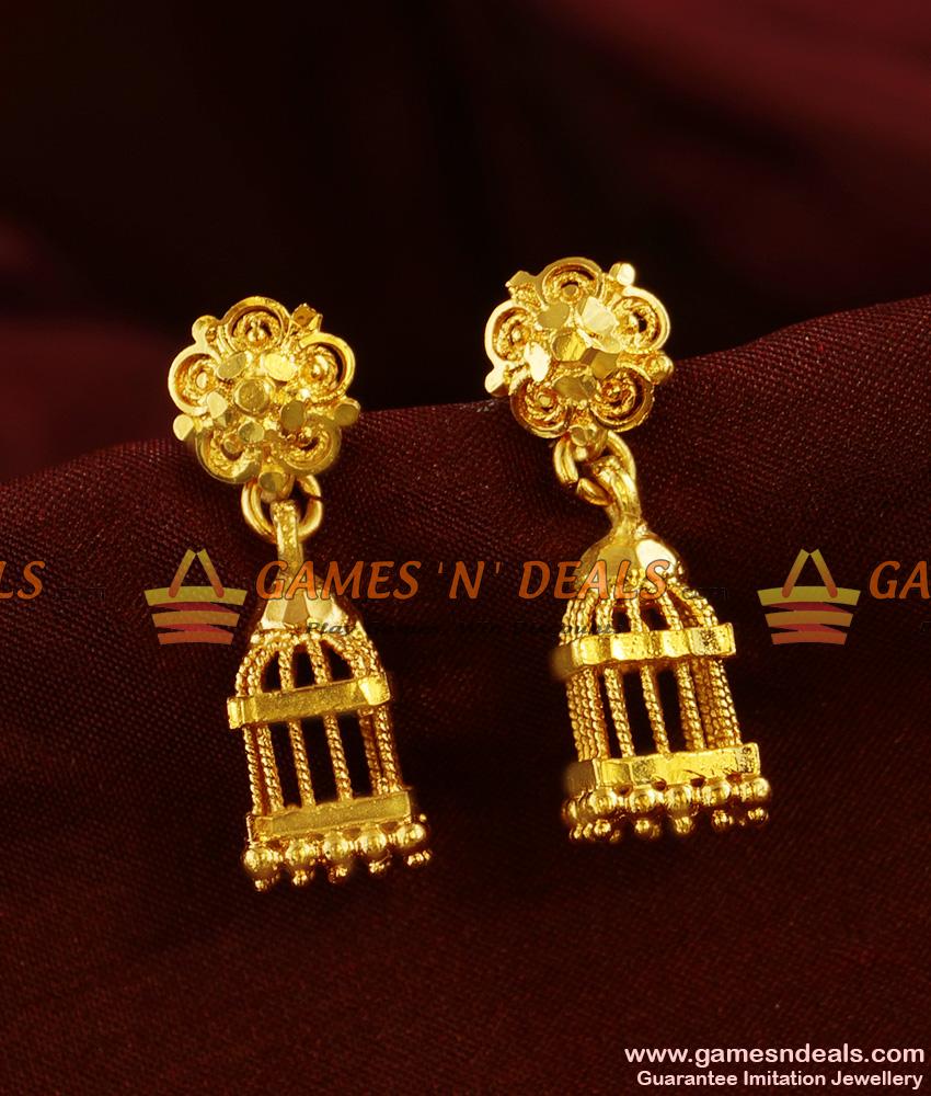 ER361 - South Inidan Daily Wear Guarantee Earring Gold Like Bird ...