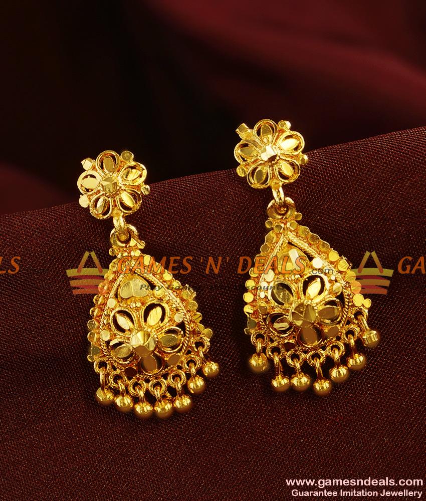 ER365 - Gold Like Kerala Design Imitation Jewelry Bridal Wear Online
