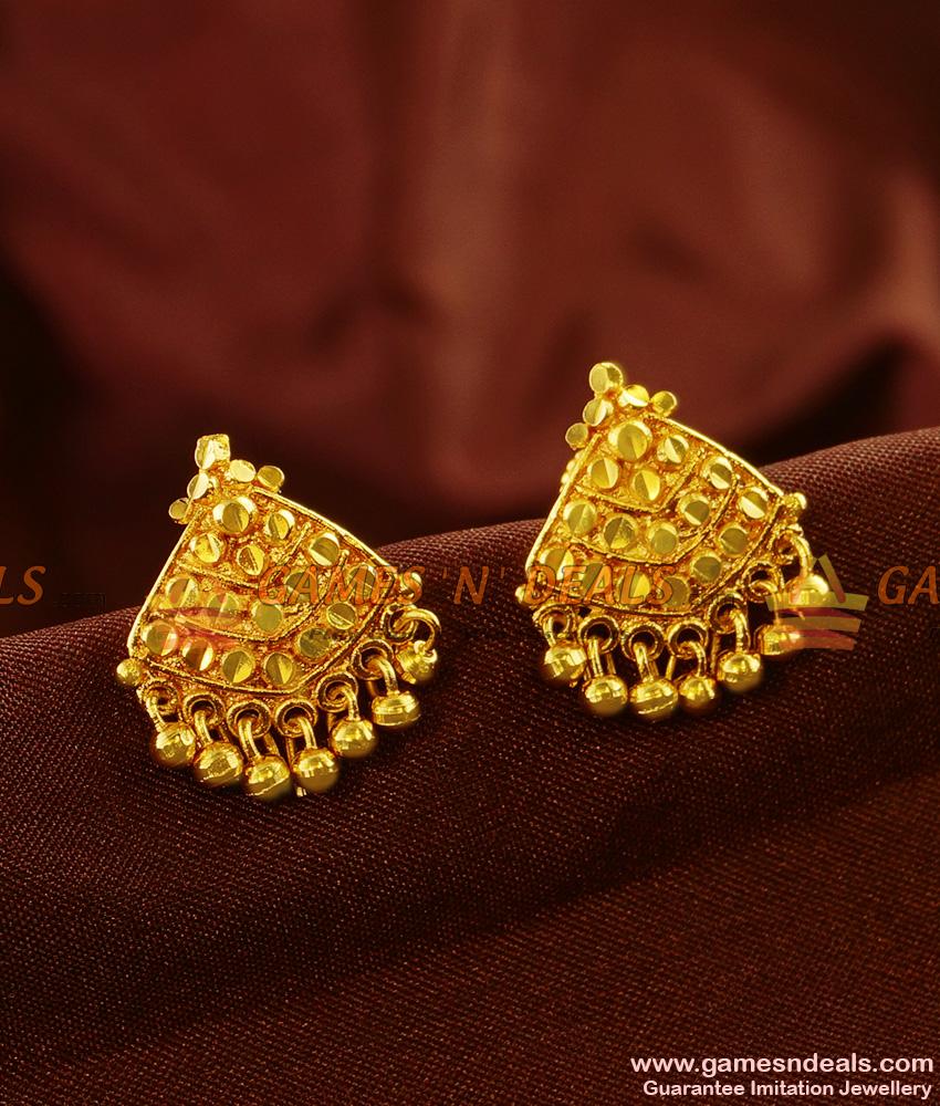 Kerala Design Plain Daily Wear Guarantee Ear Ring Low Price Online