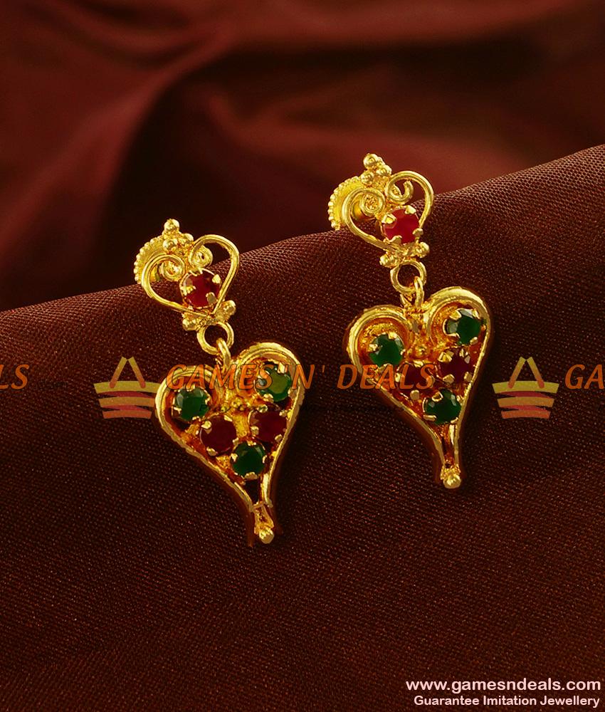 ER540 - Lovers Choice Valentine Heartin Design Imitation Earrings Online