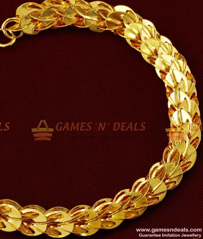 BRAC017 - Attractive Handmade Gold Plated Imitation Bracelet Party Wear Jewelry Online