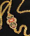 Grand Side Pendant Stone Mugappu Chain for Married Women MCH120