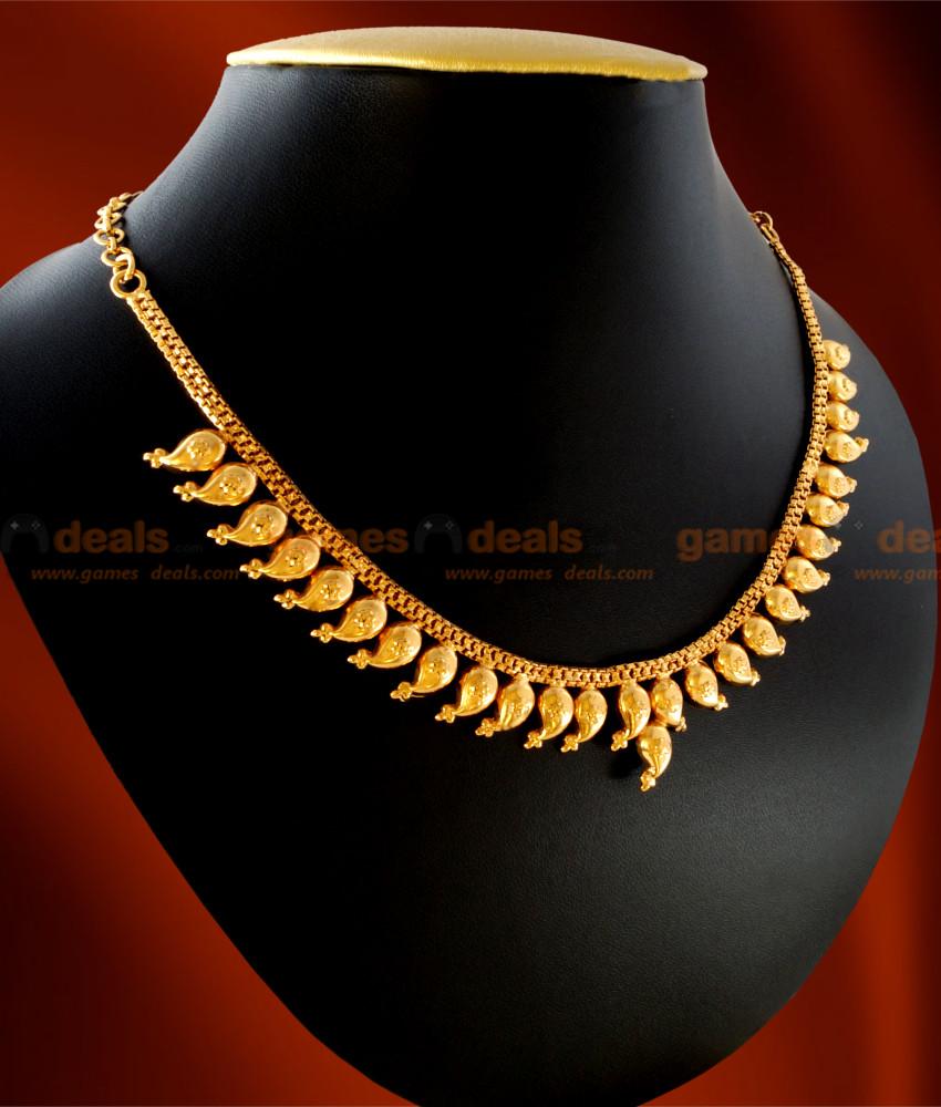 NCKN12 - Gold Plated Jewellery Traditional Maanga (Mango) Necklace ...