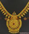 NCKN357 - Grand Unique Kerala Heavy Type Gold Plated AD Stone Bridal Necklace