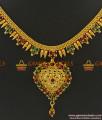 NCKN376 - High On Fashion Sparkling Kerala Design Imitation Necklace