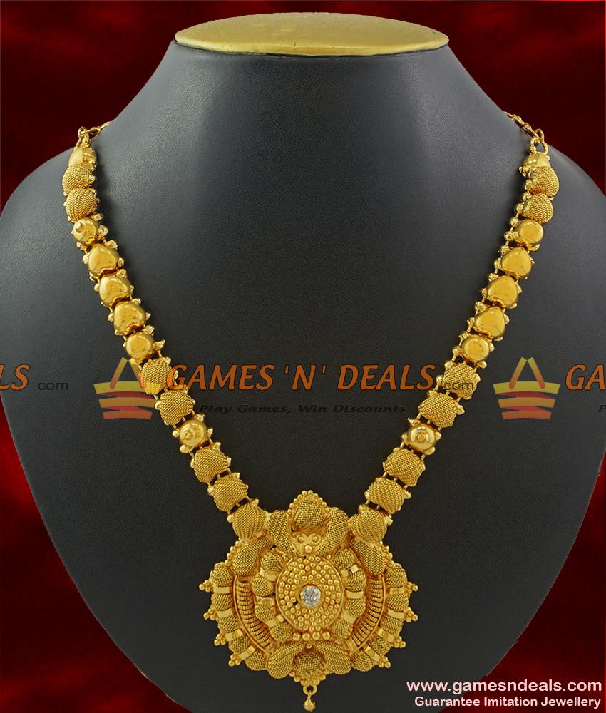 NCKN385 - Kerala Imitation Necklace Bridal Wear South Indian Guarantee Jewelry