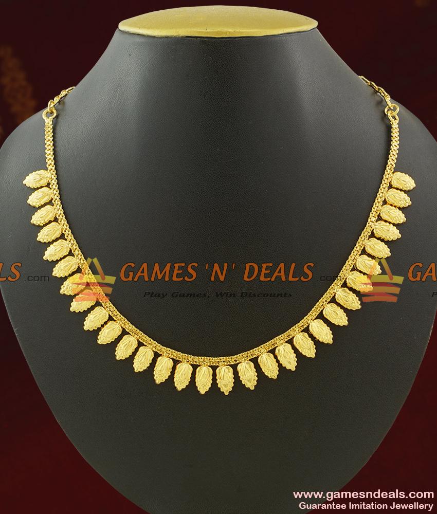 Very Light Weight Traditional Kerala Arumbu Leaf Necklace NCKN429