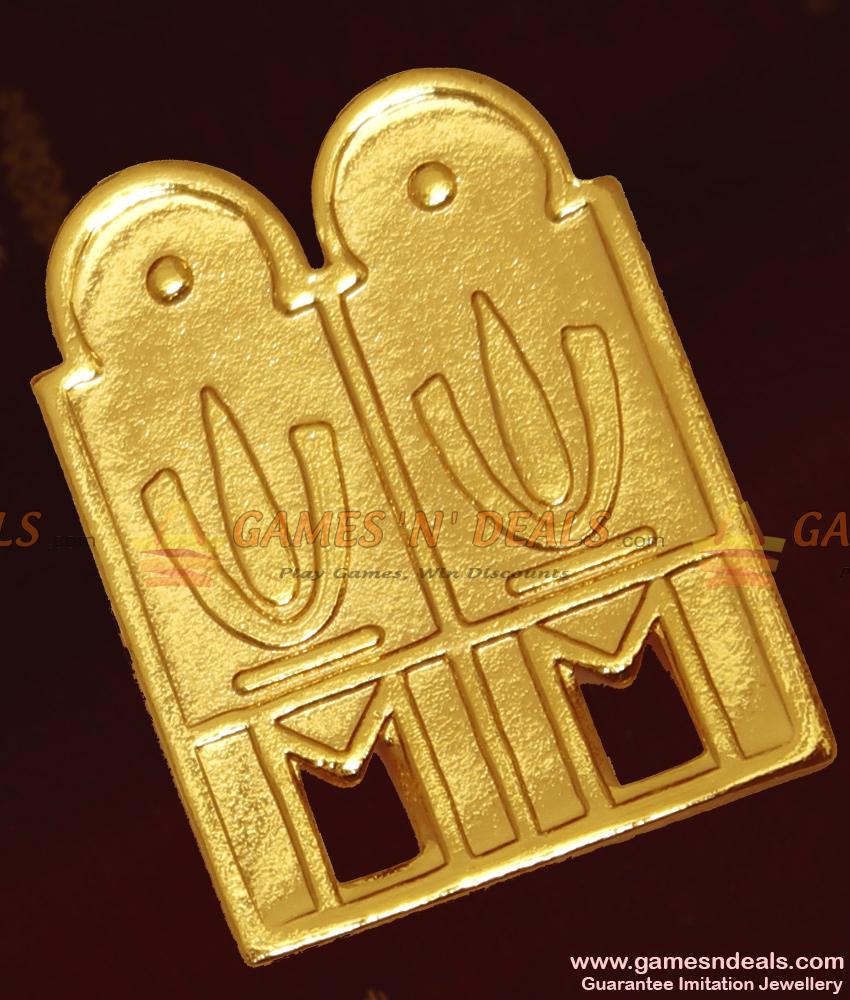 Gold Plated Jewelry Vishnu Thenkalai Thali Design THAL28
