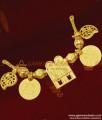 Real Gold Plated Vishnu Thenkalai Thali Set Thal31